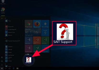 SAIT Support Start Menu Option